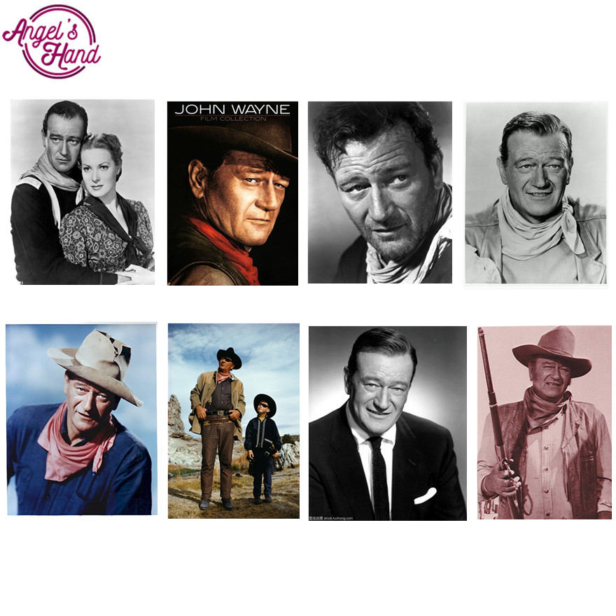 5d diy diamond painting eigen foto star John Wayne custom diamond ...