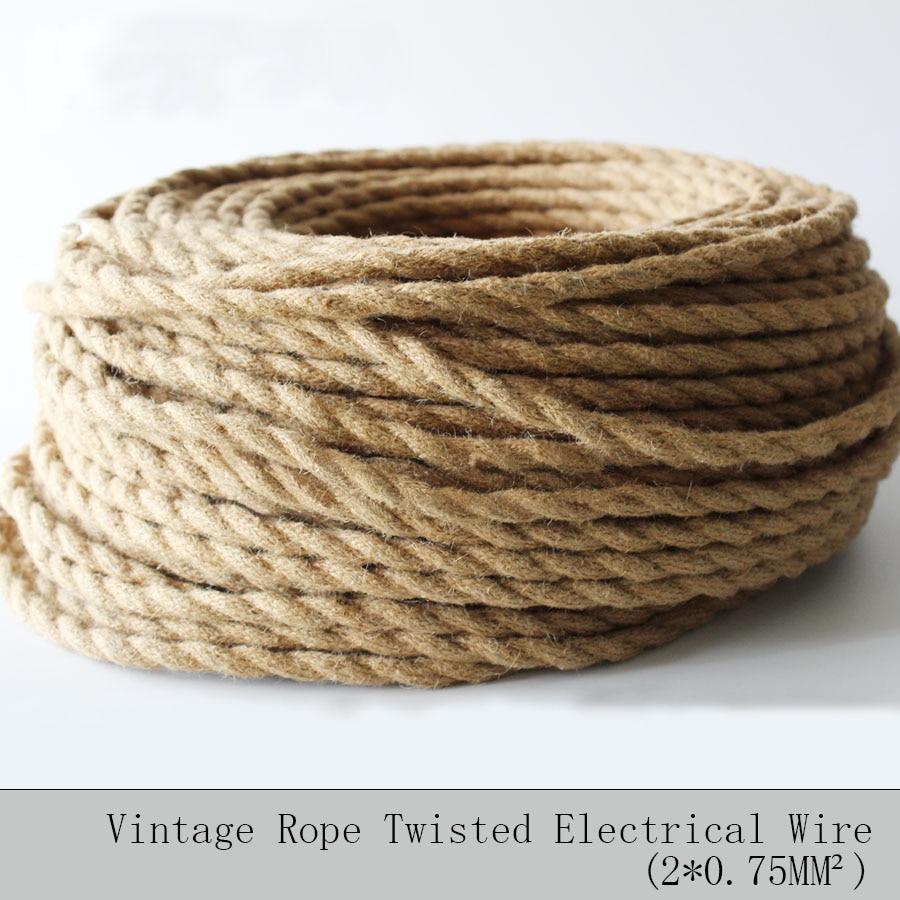 Aliexpress.com : 2*0,75 5 Mt/los Vintage Seil Textil Draht Verdreht ...