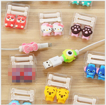 10pc /lot Cartoon Cable Organizer Bobbin Winder Protector Wire Cord Management Marker Holder Cover For Earphone