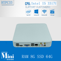 Core i5 3317u 8 gb di ram 64 gb ssd + wifi incorporato thin client computer industriale mini pc di supporto 3g e wifi