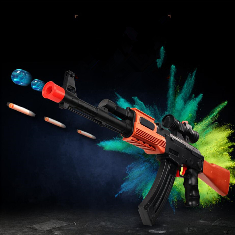 Rifle soft bullet water paintball AK47 toy gun real cs fight gun simulation toy sniper rifle air soft gun with 10000 water bombs
