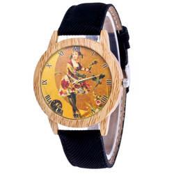 Классические новый Женская Мода Повседневное кожаный ремешок аналоговые часы кварцевые Круглый Кожаный ремешок кварцевые наручные