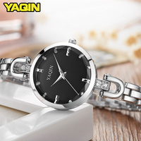 YAQIN Fashion Women Watches 2017 High Quality Ultra Thin Quartz Watch Women Elegant Dresses Hand Watch
