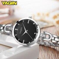 YAQIN Fashion Women Watches 2017 High Quality Ultra Thin Quartz Watch Women Elegant Dresses Hand Watch