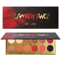 DE'LANCI Pigmented Glitter Eye Shadow Palette 12 Colors Flash Shimmer Eyeshadow with Matte Colors Easy to Wear Eye Daily Makeup
