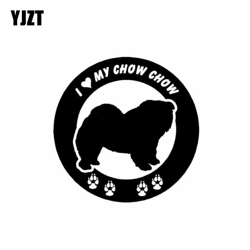 YJZT 15CM * 15CM I Love My Châu Tinh Trì Châu Vinyl Dán Xe Hơi Đen/Bạc C2-3237