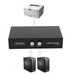 Бесплатная Доставка 2 Порты USB2.0 Обмен переключатель устройства переходник коробка для сканер компьютера принтера