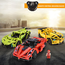 Technic Series Building Blocks Set Sports RC Car Model Remote Control Speed Champions Supercar Racer DIY Bricks Toy For Children kids rc car toy speed pipes racing track remote control building tubes diy set flash light baby educational toys for children page 4 page 5