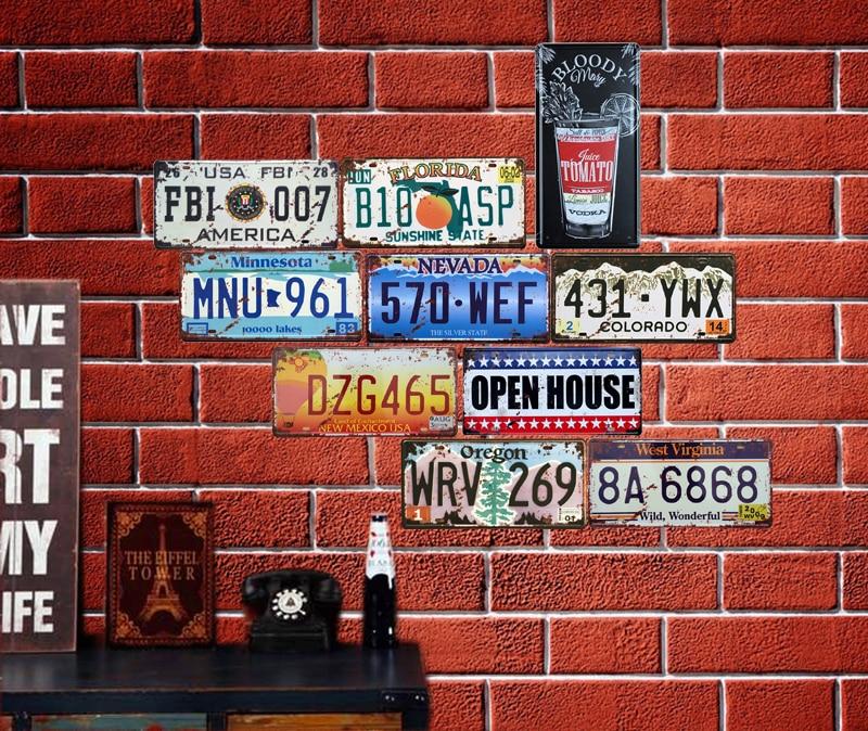 Автобус мотоцикл автомобиль металлический номерной знак винтажный домашний декор жестяная вывеска Бар Паб декоративный металлический знак для гаража металлическая живопись табличка