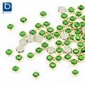 Ponen azules verde de la joyería del diamante 3D decoración de uñas 100 unids/lote clavo del brillo del diseño piedras para 3D Nails perno prisionero PJ336