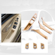 Left Hand Drive LHD For BMW 5 series F10 F11 520 525 Gray Beige Black Car Interior Door Handle Inner Panel Pull Trim Cover