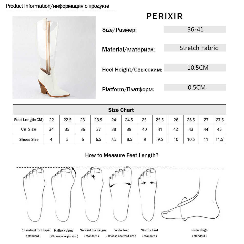 2019 Thu Mới Tây Nữ PVC Đùi Cao Cấp Giày Trong Suốt Mũi Nhọn Pha Lê Gót Quá Đầu Gối Trong Suốt Giày Đi Mưa giày
