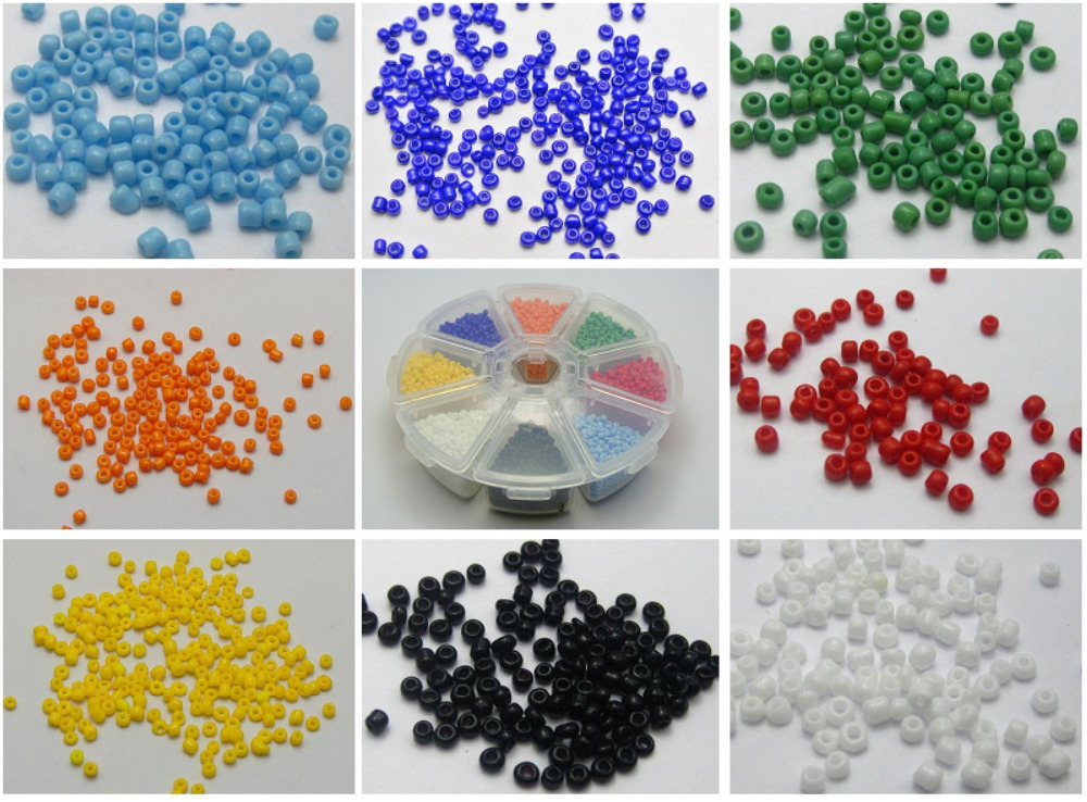 Storage Box Colour Choice Silver Foil lined 5000 Glass Seed Beads 2mm 10//0