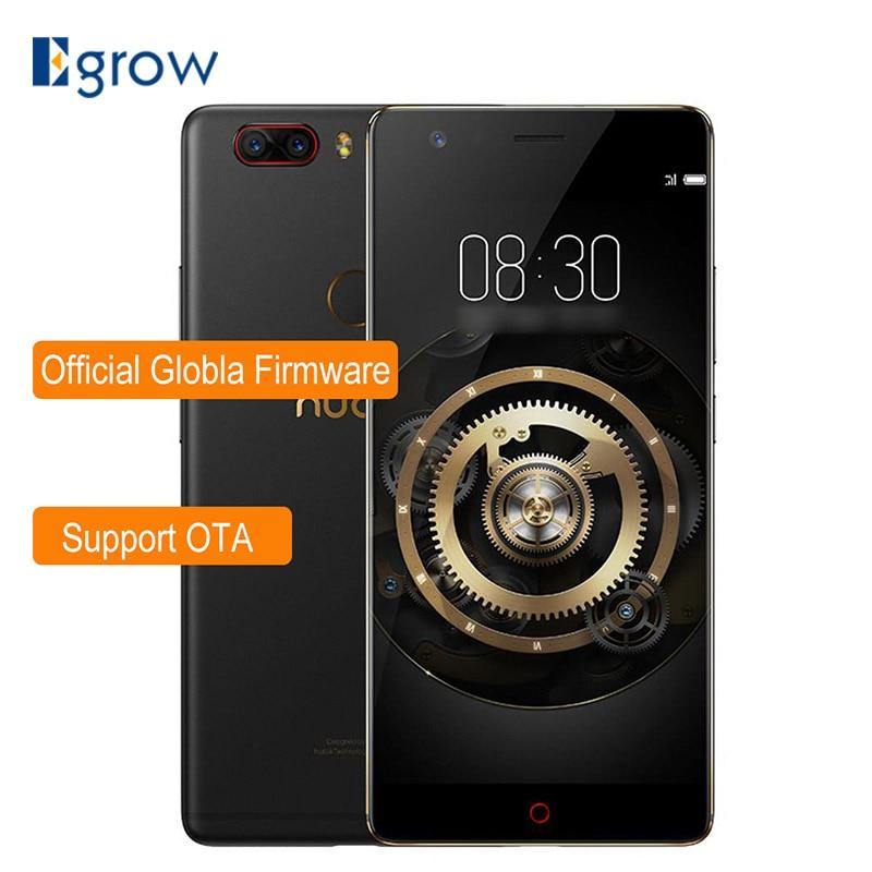 Nubia Z17 Lite 5,5 pulgadas sin bisel Snapdragon 653 Octa Core 6 GB 64 GB 4G LTE Smartphone dual 13.0MP cámara trasera NFC teléfono móvil