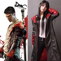 Devil May Cry Dante Jacket Cosplay Costume DMC 5  PU Leather Coat Trench Halloween Uniform For Woman Man