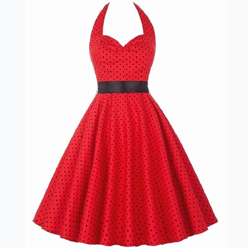 2018 Spring Women's Vintage 50s 60s Hepburn Wind Evening Party - Damkläder