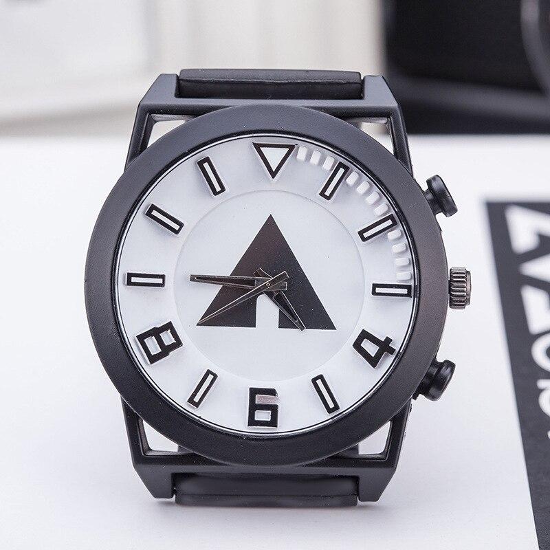 Korean Fashion Relogio Men Necessary Sport Big Dial Student Watch Neutral Silicone Watches 3D Pattern Business Wristwatch 2017
