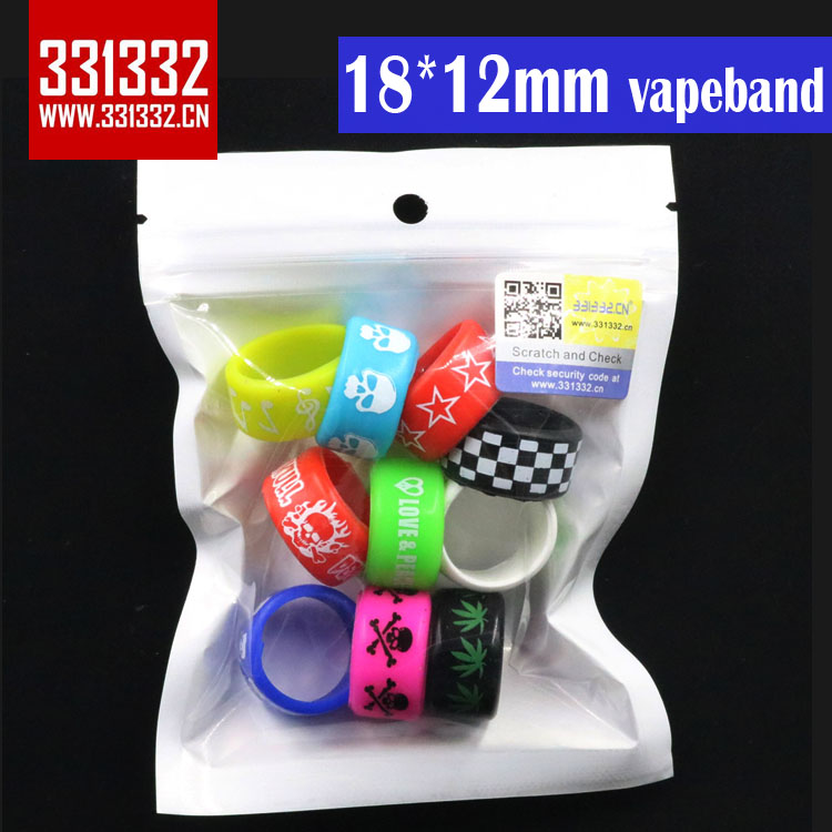 Authentic 331332 18*12mm Silicone Vape Band Silicone ring Ecig Band Vape Band Rings for ijust s ego aio subtank mini tfv4 tank
