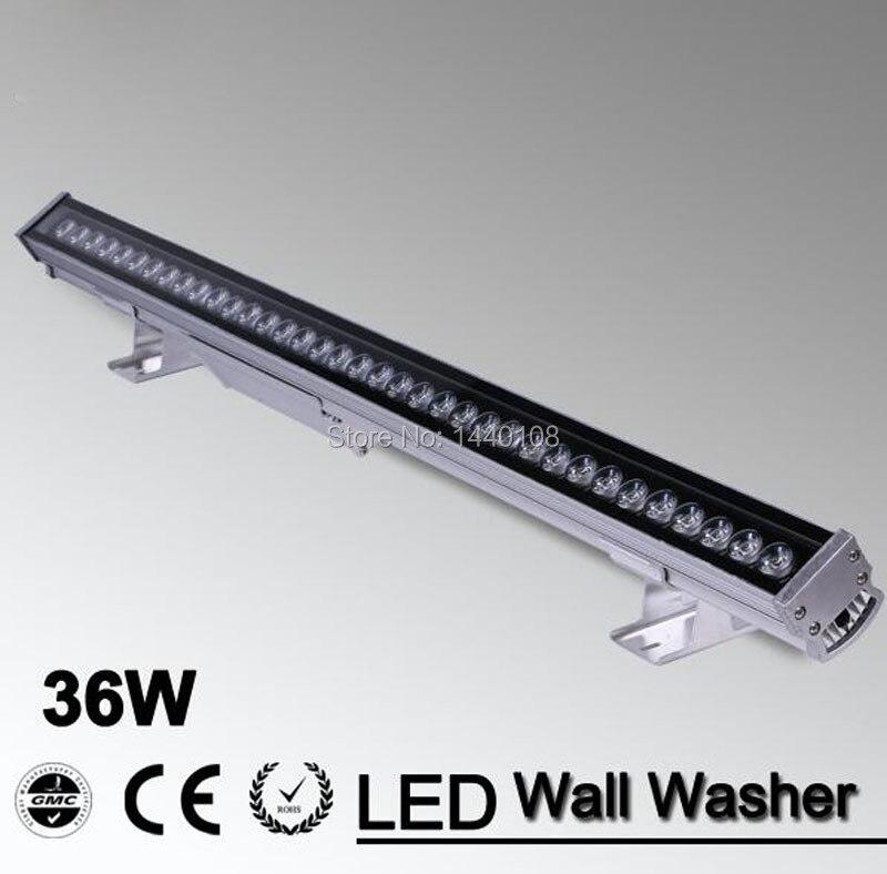 10 pçs/lote 36w CONDUZIU a luz da arruela da parede da lâmpada LED ponto de luz de inundação luz projeto lâmpada 36W led AC85-265V RGB e única cor