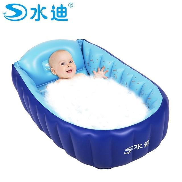 Small Inflatable Pool Tub Portable Baby Folding Eco Friendly PVC Swimming Children Bathtub 90X55X25cm