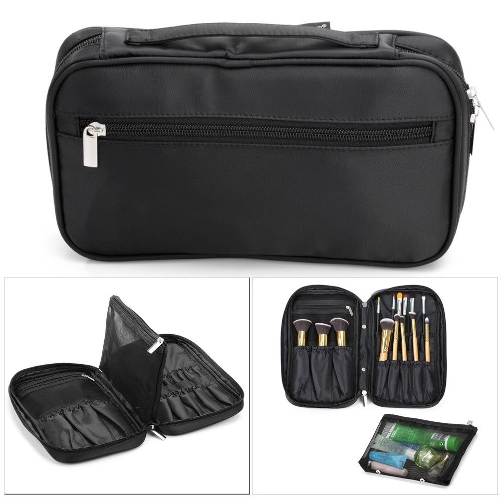 Makeup Brush Organizer Travel Clutch Handbag Cosmetic Storage Case Beauty Tool Pouch Bag Women ...