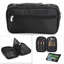 Makeup Brush Organizer Travel Clutch Handbag Cosmetic Storage Case Beauty Tool Pouch Bag Women Professional Makeup Bag