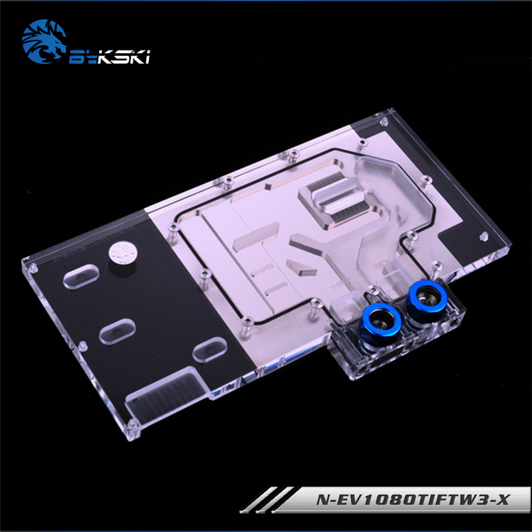 Image 3 - Bykski N EV1080TIFTW3 X, Full Cover Graphics Card Water Cooling Block RGB/RBW for EVGA GTX1080Ti FTW3 GAMING-in Fans & Cooling from Computer & Office