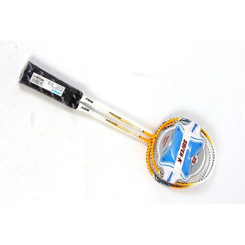 Aluminum Alloy Badminton Rackets 1 pair badminton racket man women Kids badminton racquet family fun sports