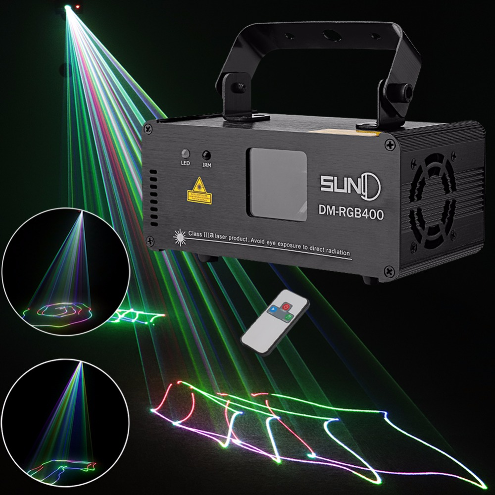 SUNY Remote DMX 400mW RGB Laser Stage Lighting Flash Scanner DM