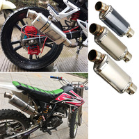 Universal Motorcycle Stainless Steel Titanium Exhaust Pipe Muffler GP Escape Motocross DB Killer For Benelli CB400 gsr 600 tmax|Exhaust & Exhaust Systems|Automobiles & Motorcycles -