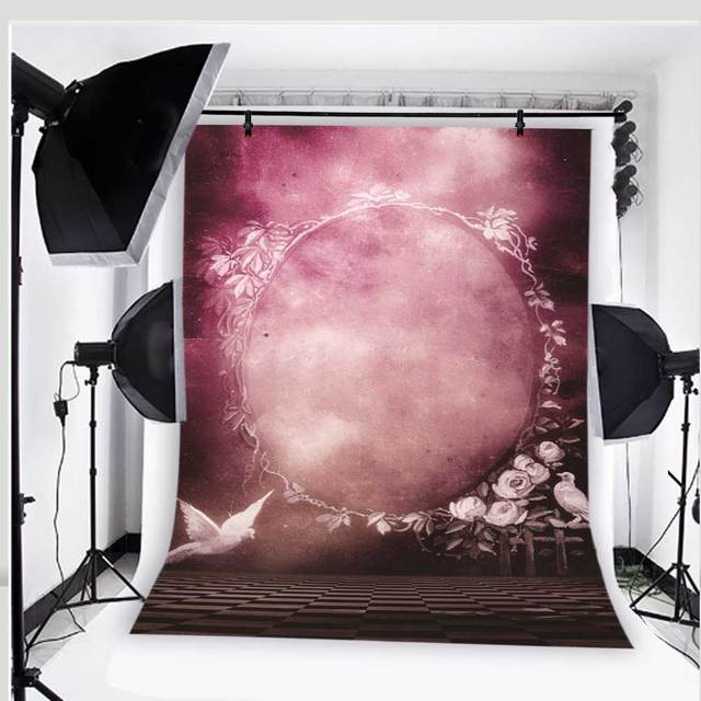 Kidniu White Dove Wedding Photography Backdrops Vinyl 5x7ft Or 3x5ft Le Purple Background Photo Studio Props Jiebj277