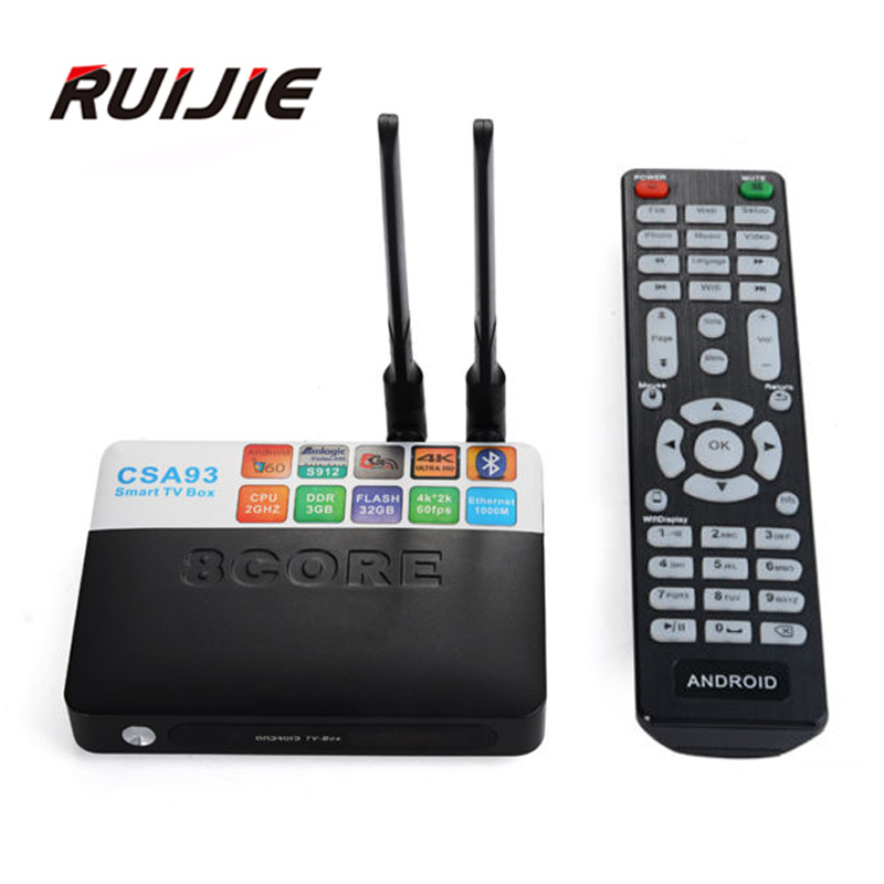 3GB RAM 32GB ROM font b Android b font 6 0 TV Box CSA93 Amlogic S912