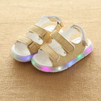 Children Sandals Boys Girls Sport Sandals Summer Light LED Child Baby Beach Sandals Kids Anti Slip
