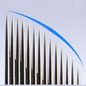 Image 5 - Laminas Tebori Nano 0,16mm 18 forma de U Nano aguja o cuchilla para Microblading Tattoo Needles para maquillaje permanente lápiz de cejas Agulhas