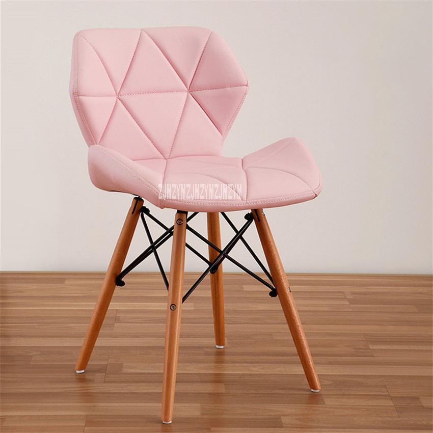 Деревянный стул для отдыха, современный креативный стул для гостиной, простой бытовой обеденный стул для кофе, офисное компьютерное кресло с спинкой - Цвет: D
