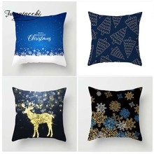 Fuwatacchi Christmas Style Cushion Cover Deer Snow Printed Pillow Tree Man wDecorative Pillows For Sofa Car