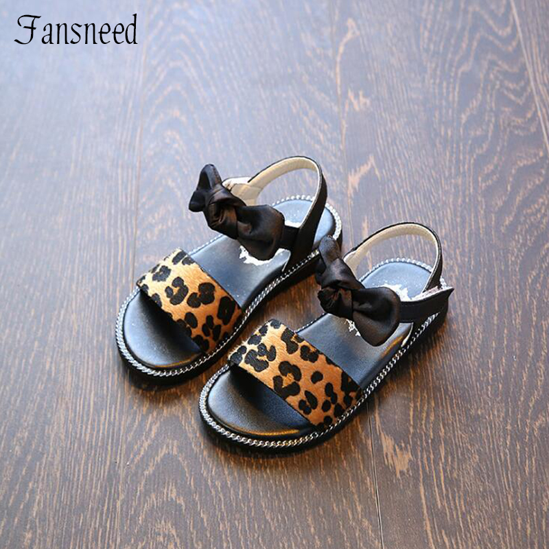 2019 summer new girls sandals princess shoes Leopard baby shoes childrens beach shoes girls bow-knot decoration shoes2019 summer new girls sandals princess shoes Leopard baby shoes childrens beach shoes girls bow-knot decoration shoes