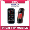 100% Nokia brand 5800 XpressMusic Refurbished unlocked original 3G WIFI GPS phone 5800 3.2MP 1 year warranty Free shipping