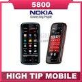 Teléfono 5800, 100% marca Nokia XpressMusic reformado desbloqueado 3 G WIFI GPS 3.2MP