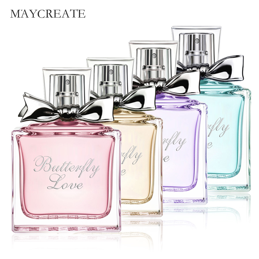 2018 MayCreate 50ml Perfumed Women Parfum Fresh Elegant Lasting Flower Fragrance Female Perfumed For Women Spray Glass Bottle