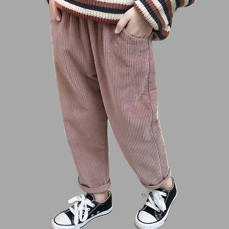 Girls Pants 2020 <font><b>Winter</b></font> Warm Corduroy Pants <font><b>Children</b></font> Clothing Fleece Lined Thick Warm Trousers Baby Girl <font><b>Clothes</b></font> 6 <font><b>8</b></font> 10 12 <font><b>Years</b></font> image