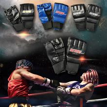 New High-quality PU Leather Boxing Gloves Half Mitts Five-fingered Breathable Design For The Palm Part Portable