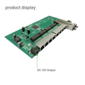 Image 4 - משלוח חינם GPON/EPON ספק פתרון עם VLAN 8 יציאת 10/100/1000M Ethernet הפוך poe מתג עם 2 SFP נמל PCB