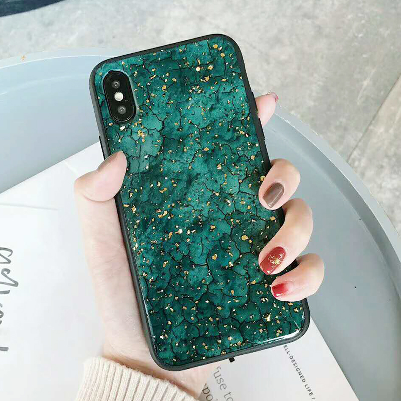 Luxury Gold Foil Bling Marble Phone Case For iPhone XS Max X XR Soft TPU Cover For iPhone 7 8 6 6s Plus Glitter Case Coque Funda (19)