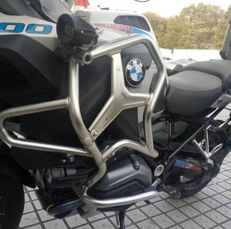 PARAURTI SUPERIORE CRASH BAR ESTENSIONI PER BMW R1200GS ADVENTURE 2014-ON del respingente superiore crash bar estensioni