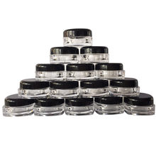 Hot Selling 50Pcs Clear Cosmetic Sample Empty Container Jar Pot Eyeshadow Makeup Cream Lip Balm Storage Makeup Organizer(China)