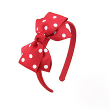1pc Polka Dot Girls Boutique Grosgrain Ribbon Headband with Bows Tie Hair Band Hair Accessories for Baby Girls Favors, 8 Colors цена