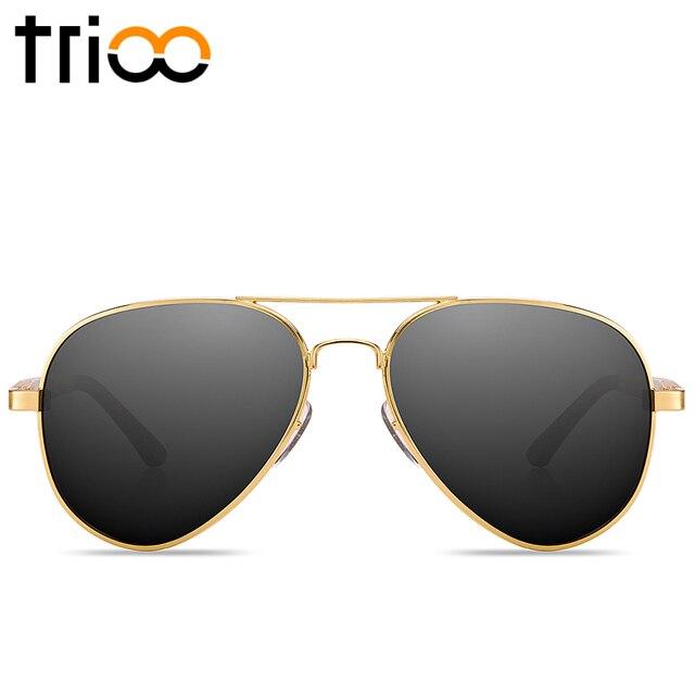 TRIOO Men Polarized Sunglasses Driving Anti-Glare Shades Aluminium Magnesium Material Sun Glasses For Men Pilot Shades Male 2017