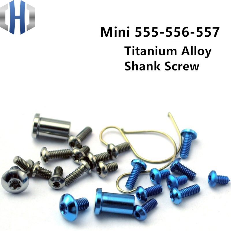 Mini Dominator Handle Screw Titanium Alloy Dominator 555-556-557 Screw EDC Full Set Of Screws