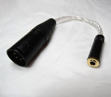 10cm 4 פינים XLR זכר מאוזן כדי 1/8 3.5mm נקבה כסף מצופה אוזניות כבל TRS אודיו מתאם כבל